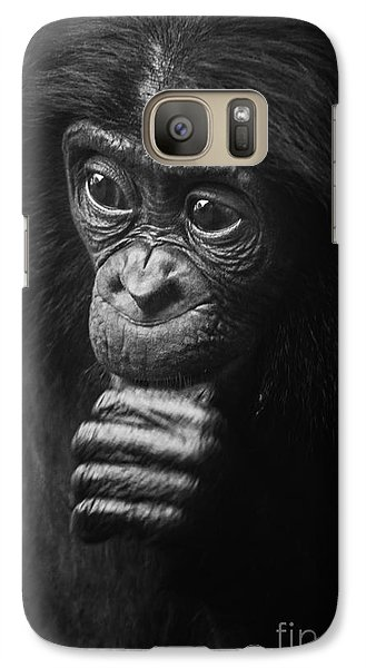 Galaxy Case featuring the photograph Baby Bonobo Portrait by Helga Koehrer-Wagner