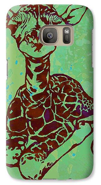 Baby Giraffe - Pop Modern Etching Art Poster Galaxy S7 Case