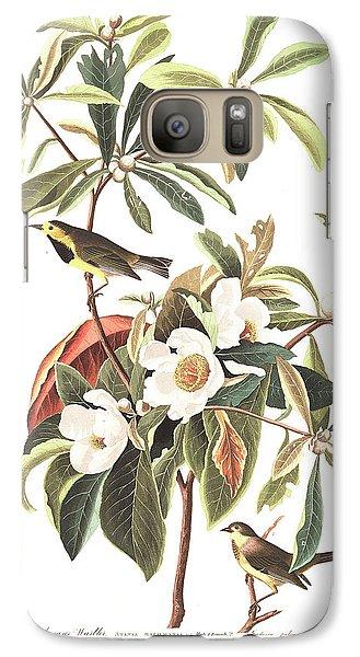 Warbler Galaxy S7 Case - Bachman's Warbler  by John James Audubon