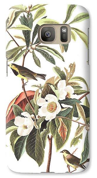 Bachman's Warbler  Galaxy S7 Case by John James Audubon