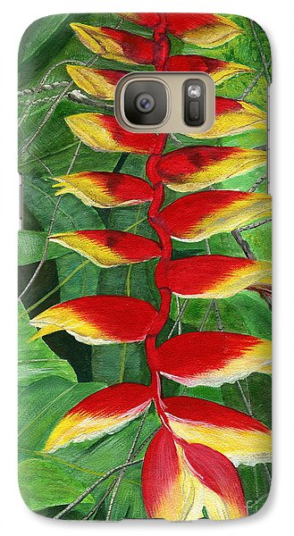 Galaxy Case featuring the painting Balinese Heliconia Rostrata by Melly Terpening
