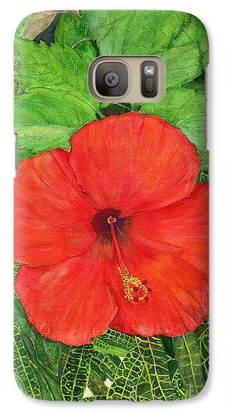 Galaxy Case featuring the painting Balinese Hibiscus Rosa by Melly Terpening