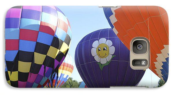 Galaxy Case featuring the photograph Balloons Waiting For The Weather To Clear by Linda Geiger