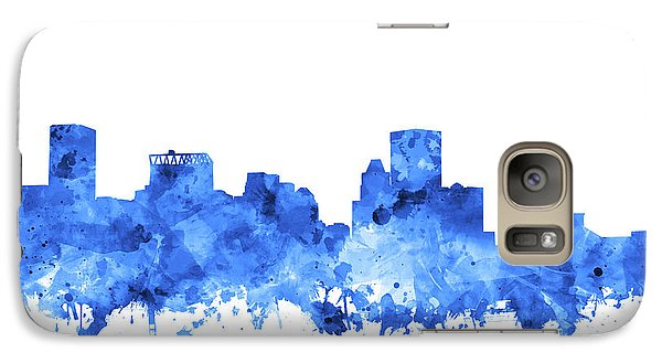 Galaxy Case featuring the painting Baltimore Skyline Watercolor 7 by Bekim Art