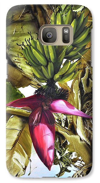 Galaxy Case featuring the painting Banana Tree by Chonkhet Phanwichien