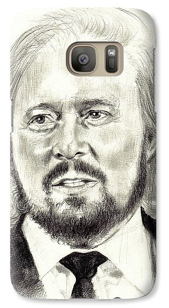 Eric Clapton Galaxy S7 Case - Barry Gibb Portrait by Suzann's Art