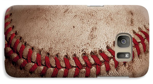 Galaxy S7 Case featuring the photograph Baseball Seams by David Patterson