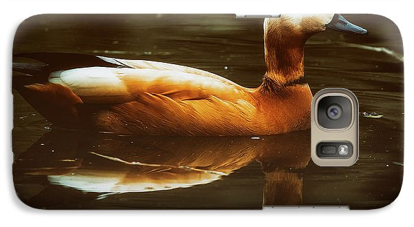 Galaxy Case featuring the photograph Beautiful Rust Goose by The 3 Cats