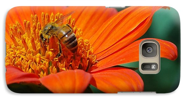 Galaxy Case featuring the photograph Bee-utiful by Debbie Karnes