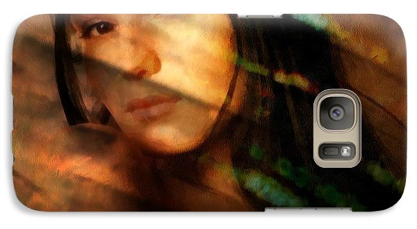 Galaxy Case featuring the digital art Behind The Curtain by Gun Legler