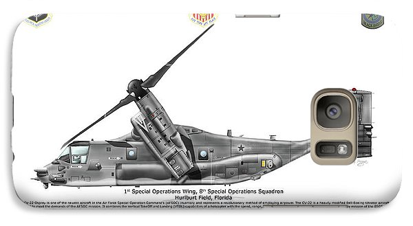 Galaxy Case featuring the digital art Bell Boeing, Cv-22b, Osprey by Arthur Eggers