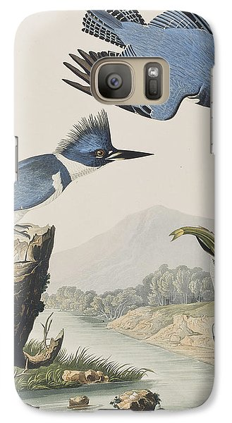 Belted Kingfisher Galaxy Case by John James Audubon