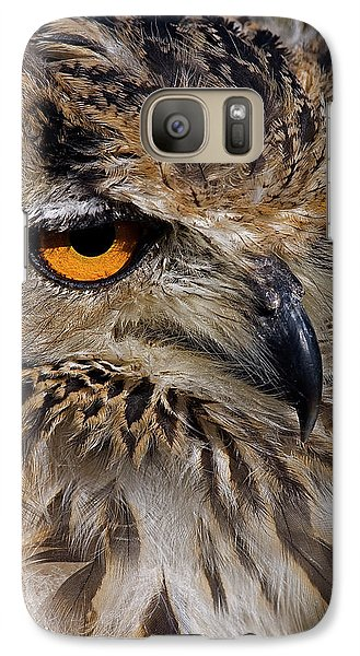 Galaxy Case featuring the photograph Bengal Eagle Owl by JT Lewis