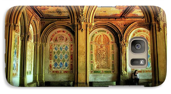 Galaxy Case featuring the photograph Bethesda Terrace Arcade by Jessica Jenney