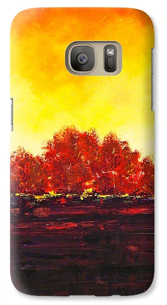 Galaxy Case featuring the painting Big Red by William Renzulli