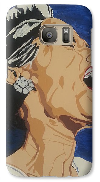 Galaxy Case featuring the painting Billie Holiday by Rachel Natalie Rawlins