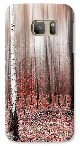 Galaxy Case featuring the photograph Birchforest In Fall by Hannes Cmarits