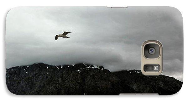 Galaxy Case featuring the photograph Bird Over Glacier - Alaska by Madeline Ellis