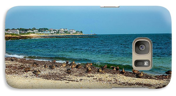 Galaxy Case featuring the photograph Birds On The Beach by Madeline Ellis