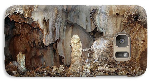 Galaxy Case featuring the photograph Bizarre Mineral Formations In Stalactite Cavern by Michal Boubin