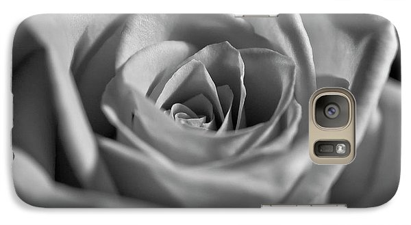 Galaxy Case featuring the photograph Black And White Rose by Micah May