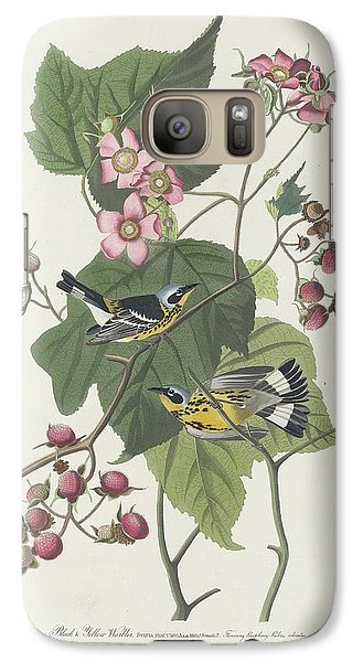 Black And Yellow Warbler Galaxy S7 Case by Rob Dreyer