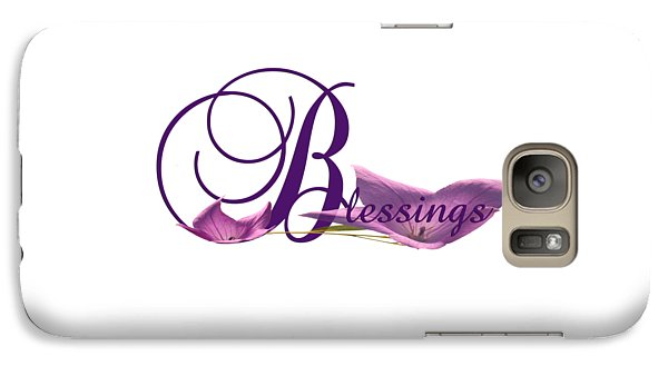Galaxy Case featuring the digital art Blessings by Ann Lauwers