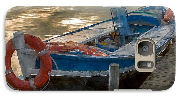 Galaxy Case featuring the photograph Blue Boat by Juan Carlos Ferro Duque