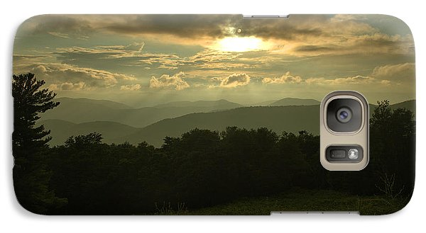 Galaxy Case featuring the photograph Blue Ridge Mountain Sunset by Stephen  Vecchiotti