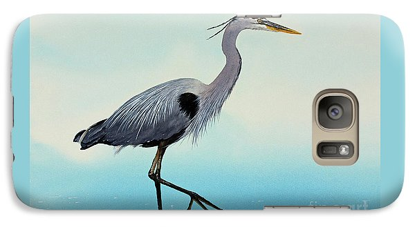 Galaxy Case featuring the painting Blue Water Heron by James Williamson