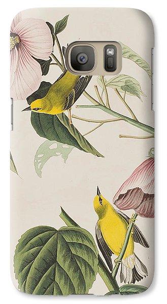 Warbler Galaxy S7 Case - Blue-winged Yellow Warbler  by John James Audubon