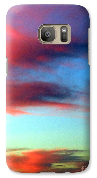 Galaxy Case featuring the photograph Blushed Sky by Linda Hollis