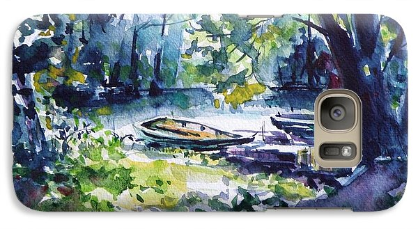 Galaxy Case featuring the painting Boat by Kovacs Anna Brigitta