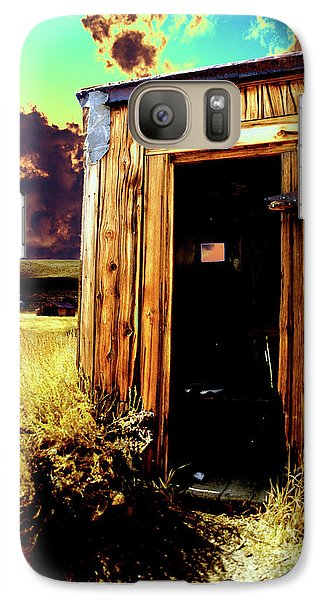 Galaxy Case featuring the photograph Bodie Outhouse by Jim and Emily Bush