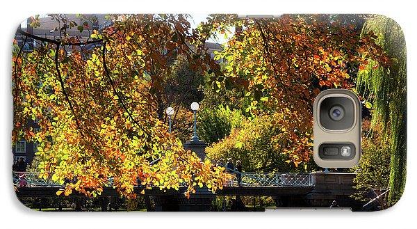 Galaxy Case featuring the photograph Boston Public Garden - Lagoon Bridge by Joann Vitali