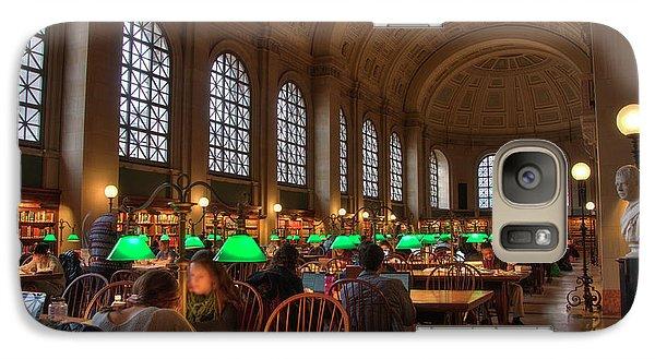 Galaxy Case featuring the photograph Boston Public Library by Joann Vitali