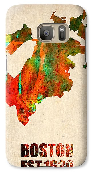 Boston Watercolor Map  Galaxy S7 Case by Naxart Studio