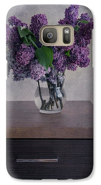 Galaxy Case featuring the photograph Bouquet Of Fresh Lilacs by Jaroslaw Blaminsky