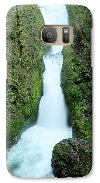 Galaxy Case featuring the photograph Bridal Veil Falls by Jeff Swan