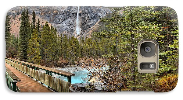 Galaxy Case featuring the photograph Wooden Bridge To Takakkaw Falls by Adam Jewell