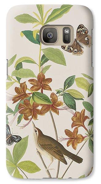 Brown Headed Worm Eating Warbler Galaxy S7 Case by John James Audubon