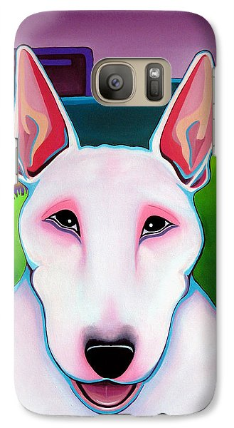 Galaxy Case featuring the painting Bull Terrier by Leanne WILKES