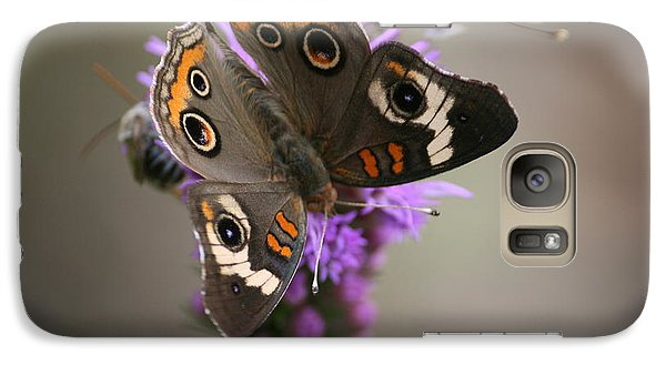 Galaxy Case featuring the photograph Buckeye Butterfly by Cathy Harper