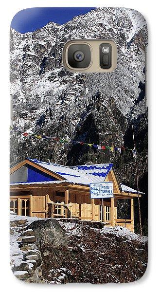 Galaxy Case featuring the photograph Meeting Point Mountain Restaurant by Aidan Moran