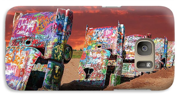 Galaxy Case featuring the photograph Cadillac Ranch by Carolyn Dalessandro