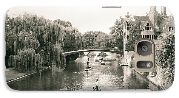 Galaxy Case featuring the photograph Cambridge River Punting by Eden Baed