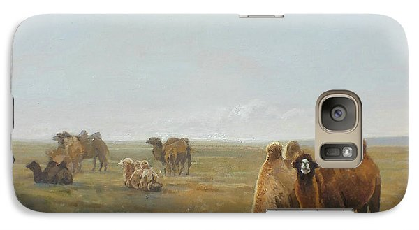 Camels Along The River Galaxy S7 Case