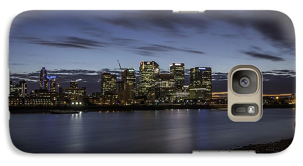 Galaxy Case featuring the photograph Canary Wharf by Ryan Photography