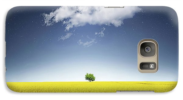 Galaxy Case featuring the photograph Canola Field by Bess Hamiti