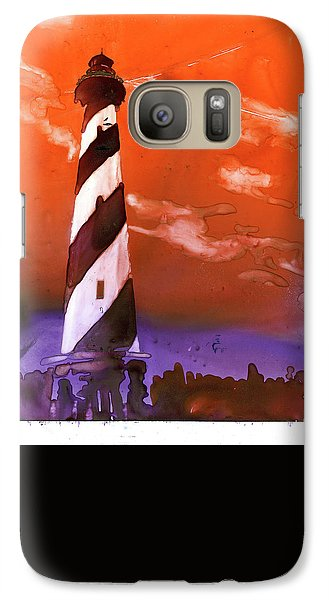 Galaxy Case featuring the painting Cape Hatteras Lighthouse by Ryan Fox